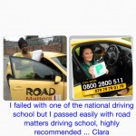 I was trained with one of the national driving school but was having difficulty passing my test, I had only few driving lessons with Road Matters Driving school abd passed first time