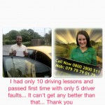 I passed first time with Road Matters Driving School, my driving instructor was really helpful and well experienced